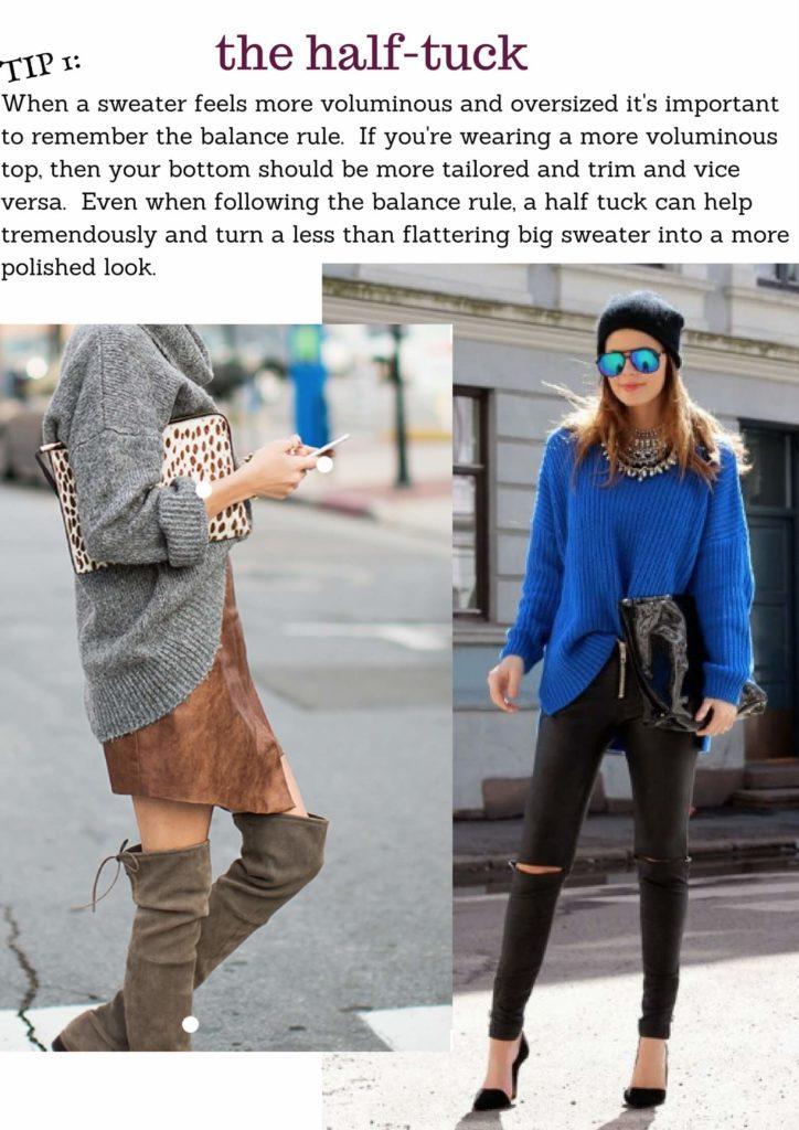 half tuck oversized sweater