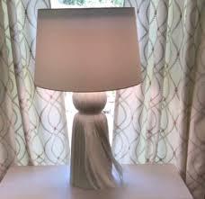 Tasseled bedside table lamps
